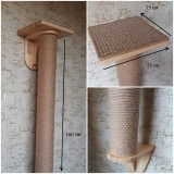 Когтеточка-Столб настенная с полочкой